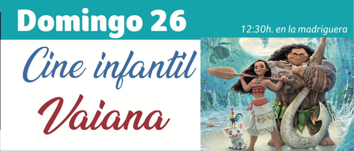 Cine Infantil Espacio Rubens Vaiana Huelva Enero