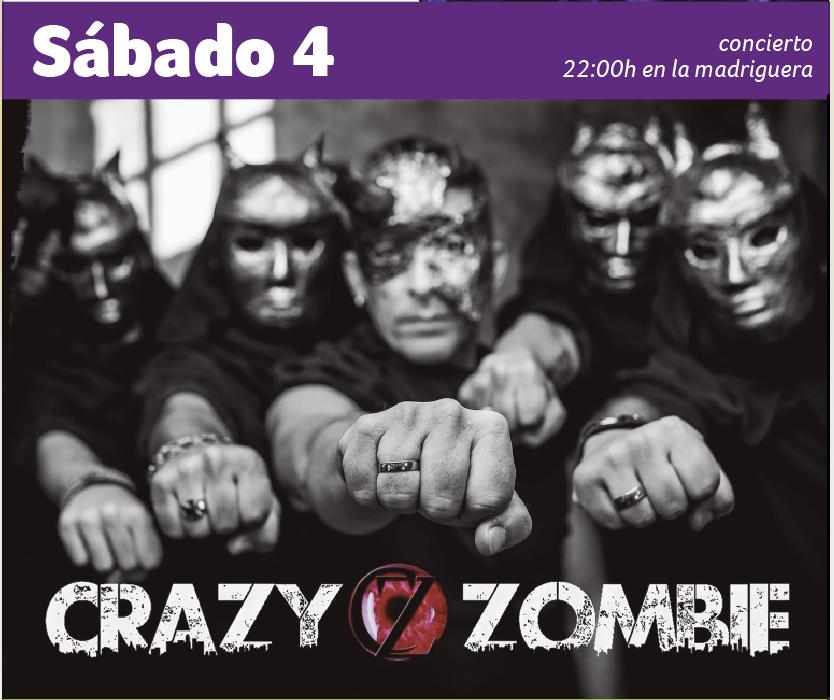 Concierto Crazy Zombie la madriguera Espacio Rubens Huelva 4 enero 2020